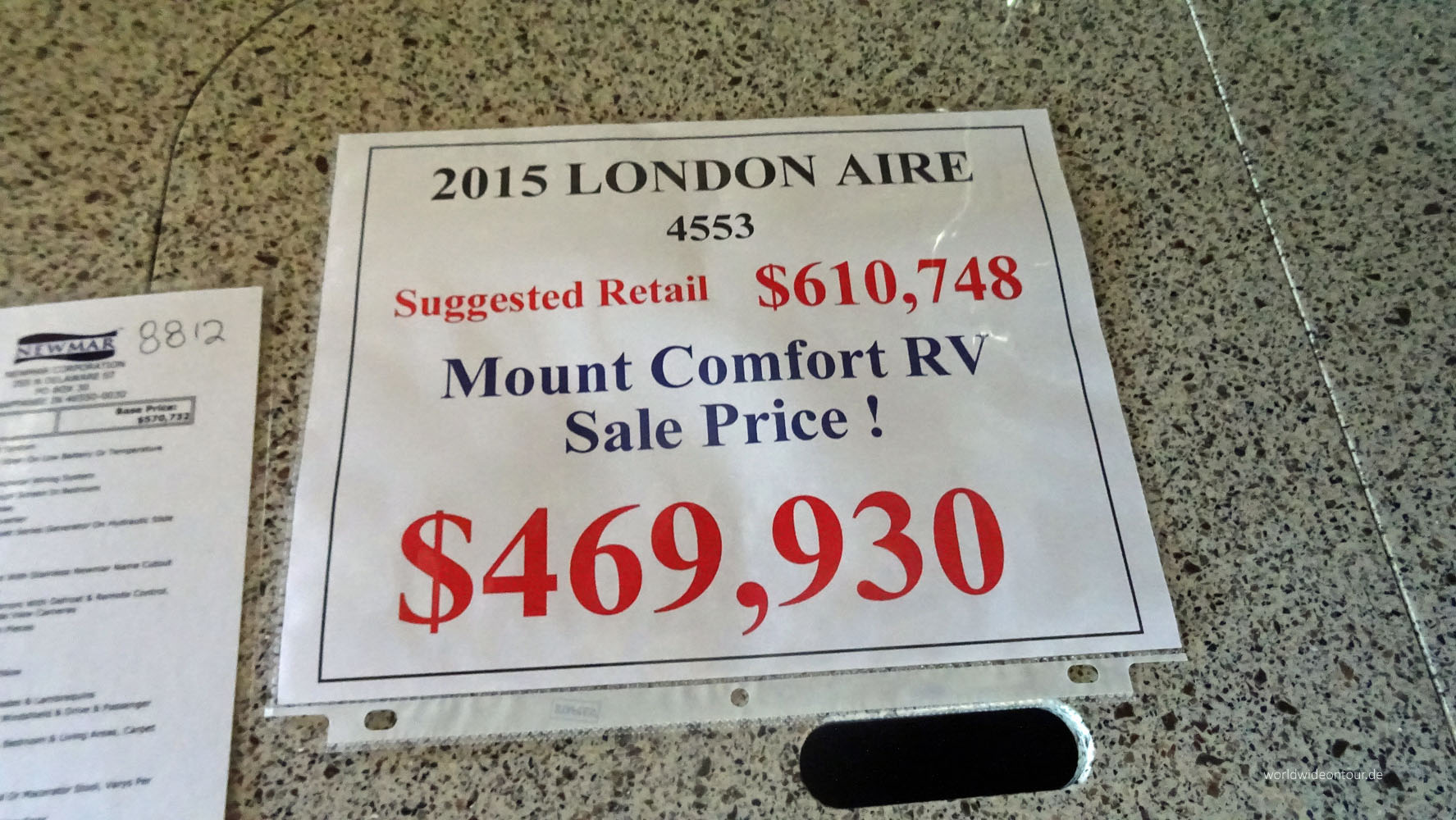 Preisauszeichnung London Aire whe