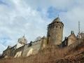 Burg während Restaurierung wheof