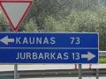 Verkehrsschild Kaunas Jurbarkas whe