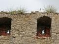 Mauern mit Gras sab