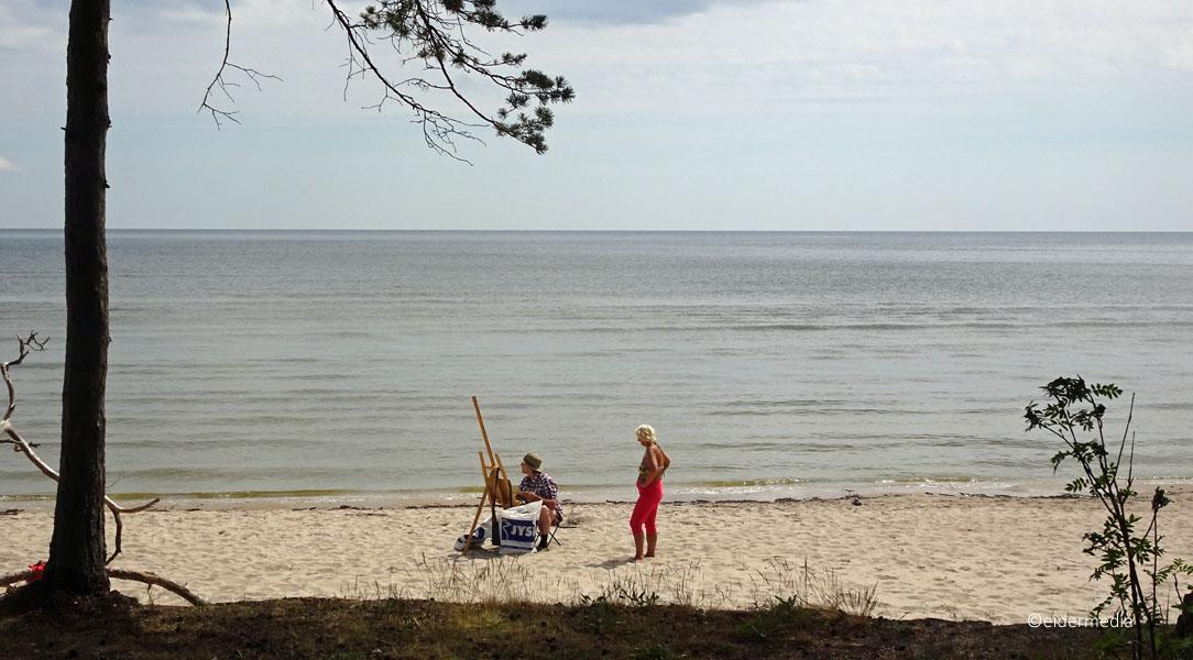 Maler am Strand sab