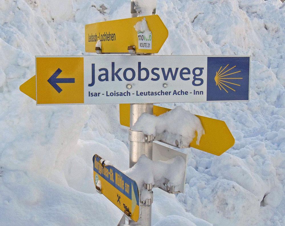 Wegweiser Jakobsweg wheoF