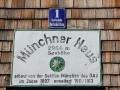 Schild Münchner Haus sabof
