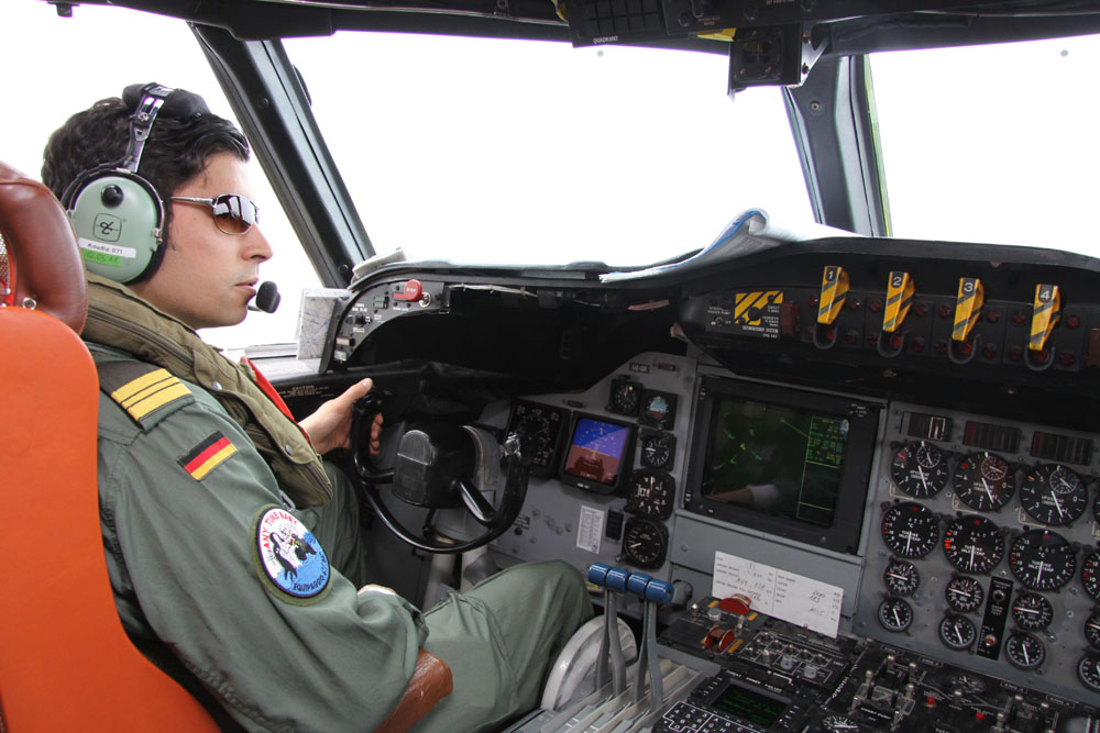 Pilot flying: Kapitänleutnant Karim Koudia.