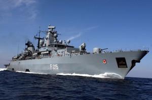 """Die Fregatte """"Brandenburg"""" ist zurzeit das Flaggschiff der EU-Operation Atalanta"""
