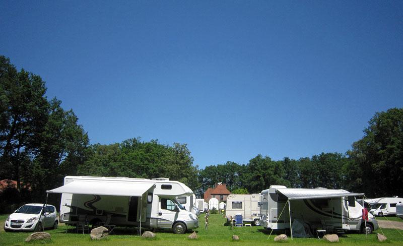 Der Quick-Camping-Platz vor den Toren des Camping Parks Lüneburger Heide