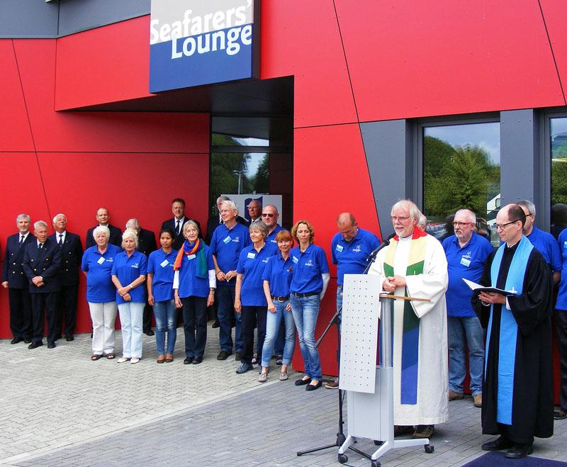 Eröffnung und Segnung der Seafarer´s Lounge in Kiel. Fotos: Seehafen Kiel GmbH