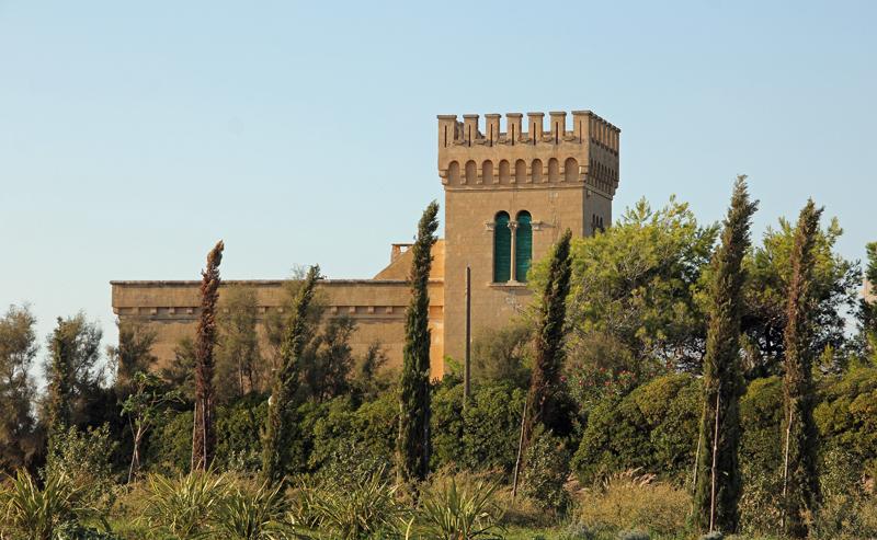 Das Schloss beim Torre Suda