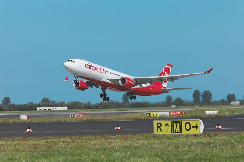 AirBerlin ist auf der Route von Düsseldorf nach Mallorca vergleichsweise pünktlich. Foto: airberlin/Andreas Wiese