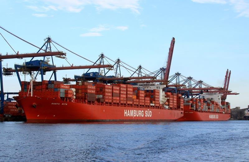 Santa Teresa, Santa Rita und Santa Barbara zusammen im Hafen von Santos