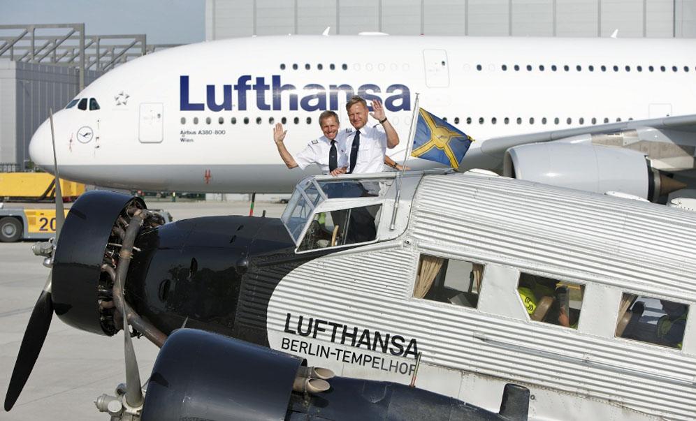 Tradition und Moderne bei der Lufthansa. Fotos: Lufthansa