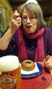 Sabine und die Pilzcremesuppe im Roggenlaibchen