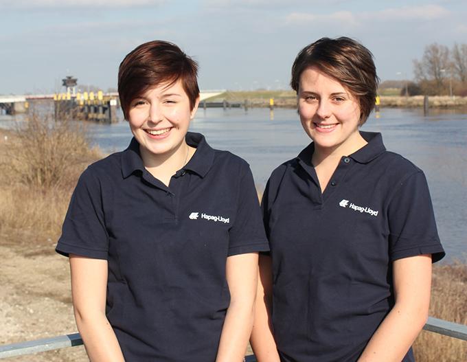 Die Azubis (von links): Jasmin Scholz und Rika Orth