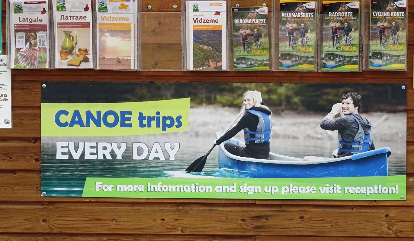 Auf dem Campingplatz werden auch Kanu-Touren organisiert