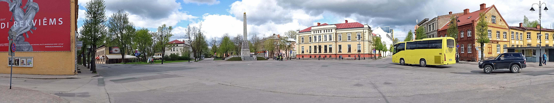 Zentrum: Der große Platz in Cesis