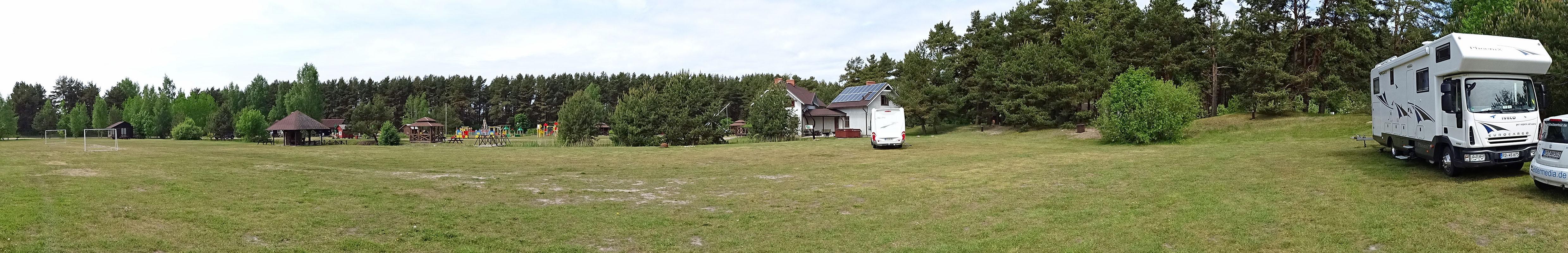 Am Ziel: Campingplatz Verbelnieki, sechs Kilometer südlich von Liepaja