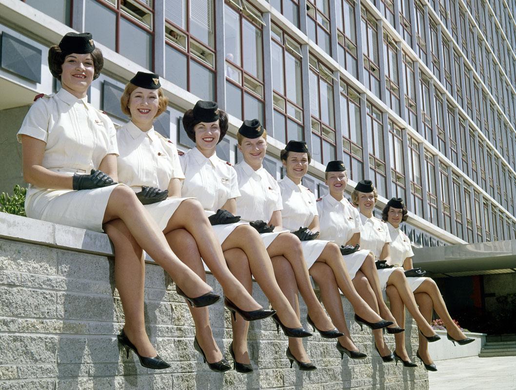 Air Hostess Uniform Sommer 1959. Fotos: Air New Zealand