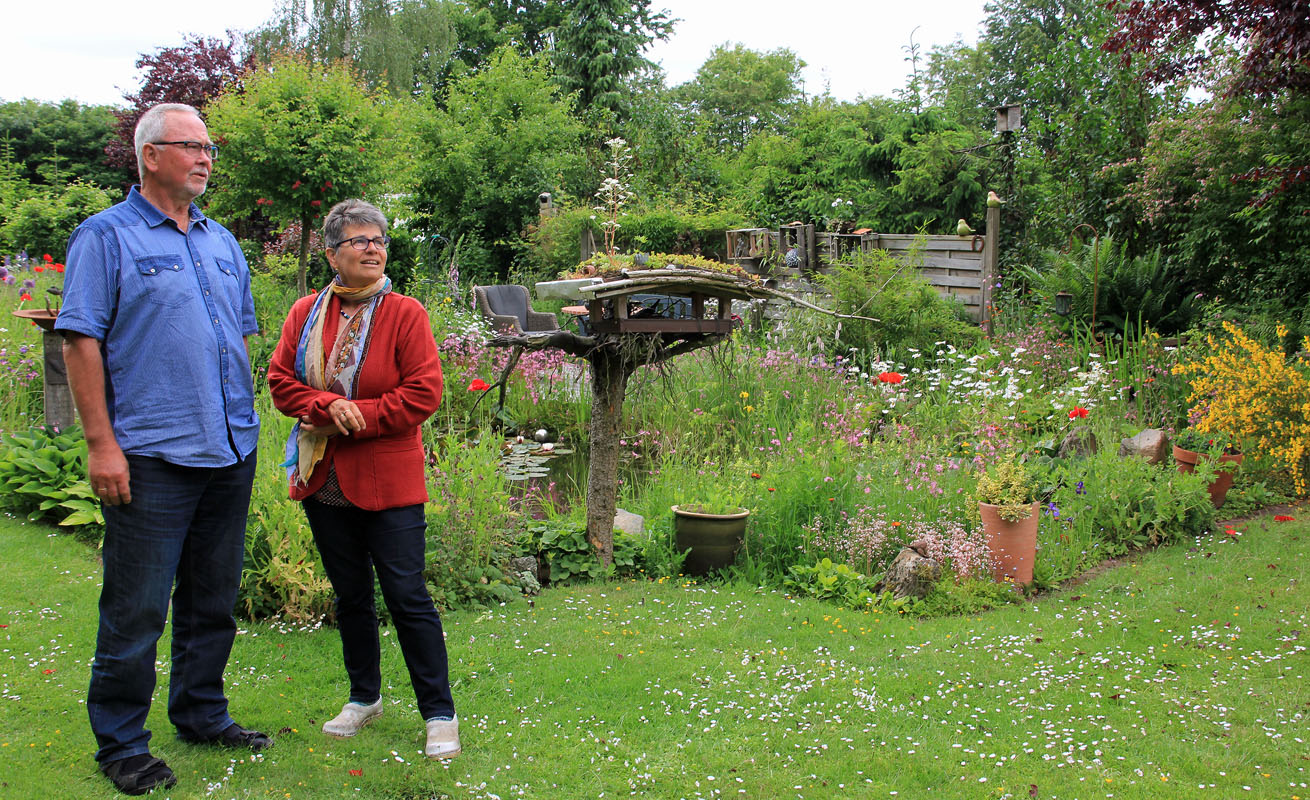 Wolfgang und Birgitt Vogel lieben den Garten und das Wohnmobil
