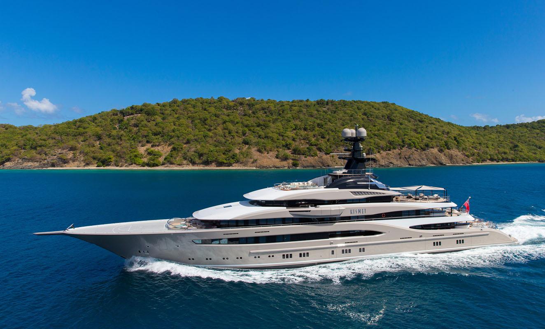 """95 Meter-Yacht: """"Kismet""""."""