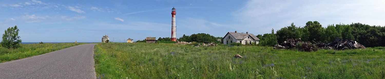 Der Leuchtturm von Paldiski auf der Halbinsel Pakri
