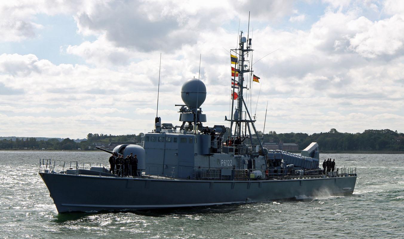 """""""S 72 Puma"""": Die Schnellboote der Gepard-Klasse wurden in den 1980er Jahren bei der Lürssen-Werft in Bremen und der Kröger-Werft (jetzt eine Lürssen-Tochter) in Schacht-Audorf gebaut."""