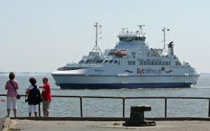 """Die FRS-Fähre """"Sylt Express"""" (Havneby - List/Sylt) ist bauähnlich zu den modernen estnischen Fähren."""