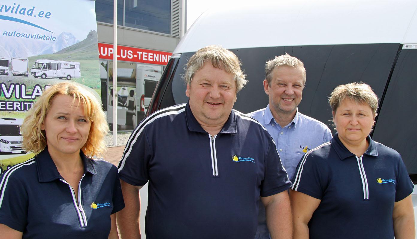 Das Team (von links): Liana Kekpalu, Meelis Adamson, Uno Pajoste und Karin Kuldsaar-Adamson