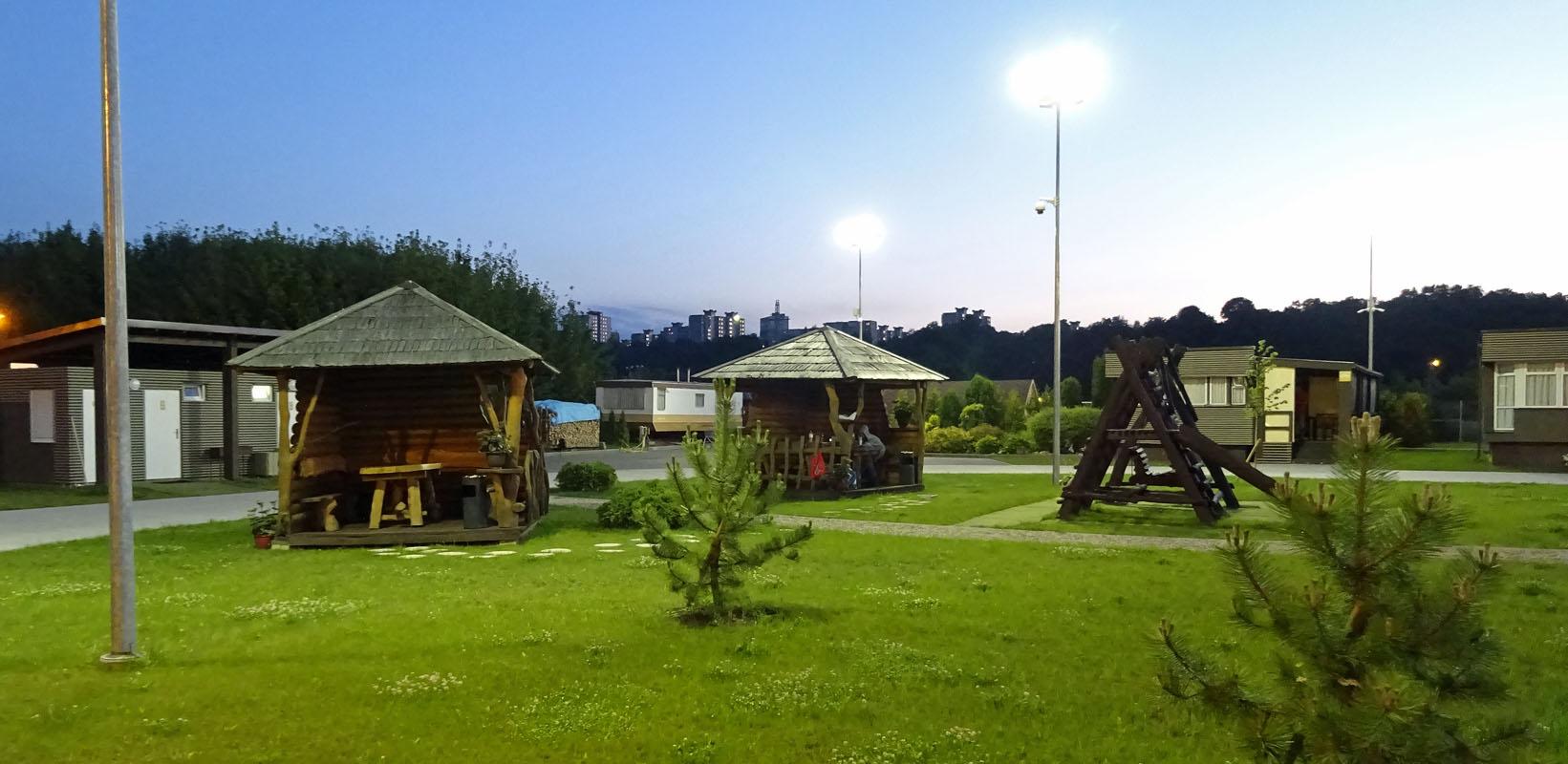 Die Aussenanlagen von Kaunas City Camping. Fotos: Henze