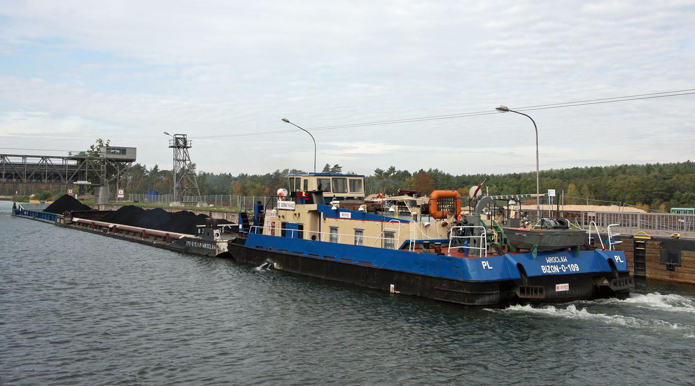 Kohlentransport auf dem Oder-Havel-Kanal. Fotos: Henze