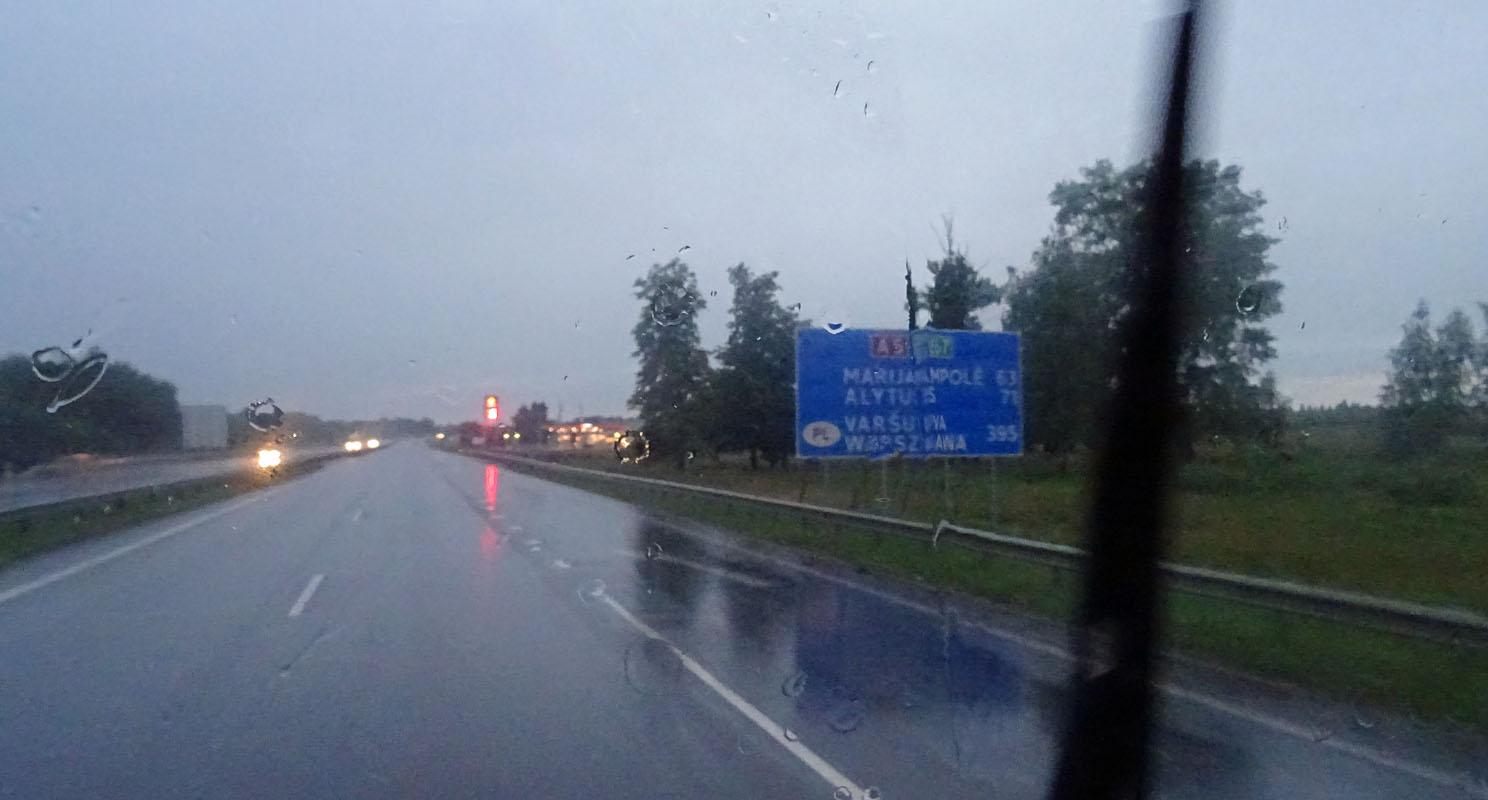 Na toll: Es regnet!