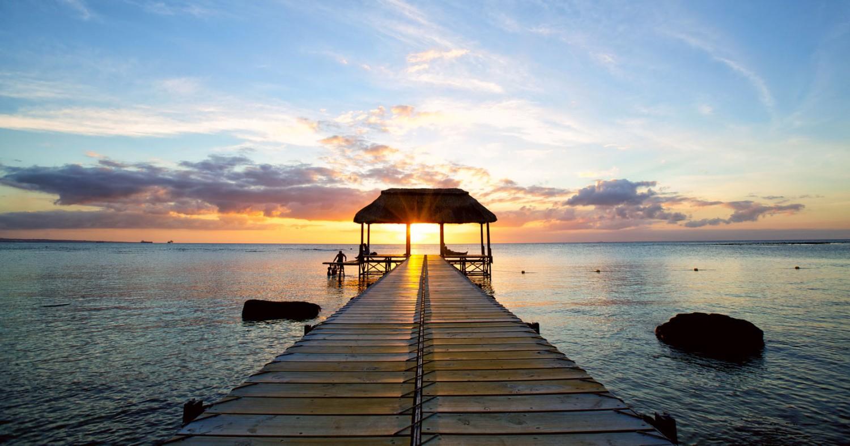 Sonnenuntergang auf Mauritius.