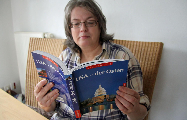 Sabine und der VistaPoint Reiseführer USA - der Osten.