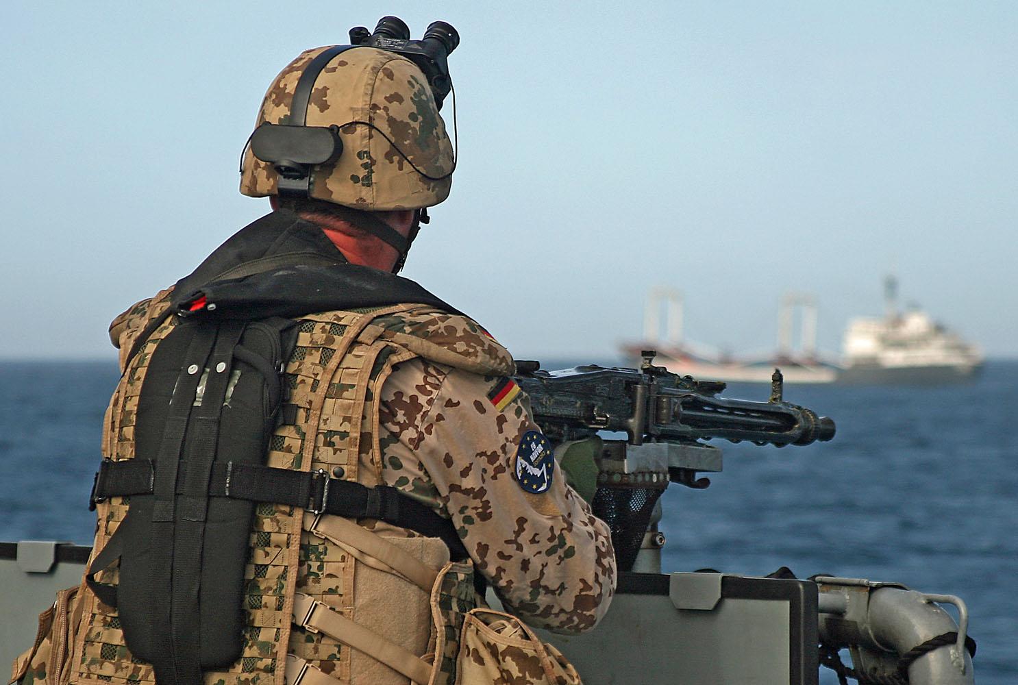Marinesoldaten der MSK-Schutzkräfte aus Eckernförde sind ebenfalls am Horn von Afrika im Einsatz.