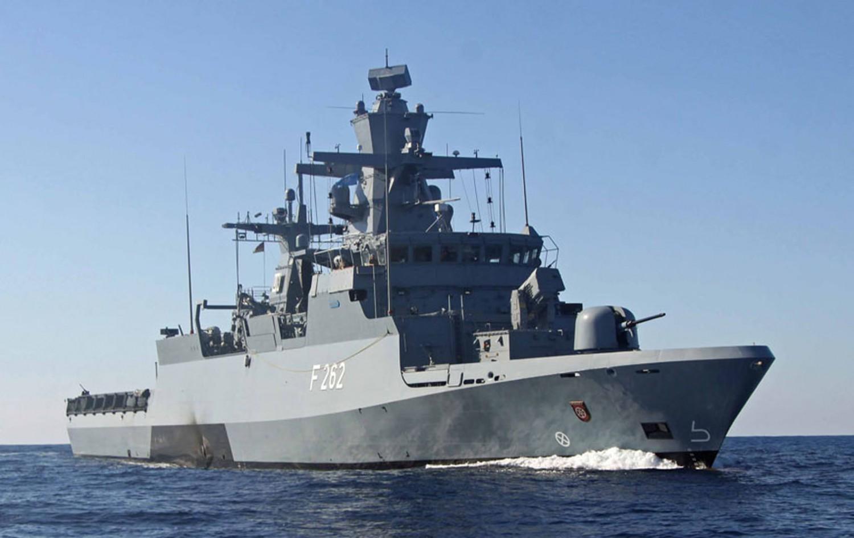 """Korvette """"Erfurt"""", Heimathafen Rostock, operiert ebenfalls vor der somalischen Küste."""