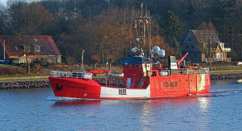 """Die """"Esvagt Echo"""" ist ein Sicherheitsschiff und wird überwiegend in der Nordsee eingesetzt."""