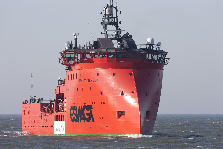 """Esvagt Bergen"", das Flaggschiff der Esvagt-Gruppe Foto: MEDVIND/Bent Sørensen"