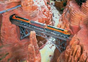 Eisenbahnbrücke in Amerika.