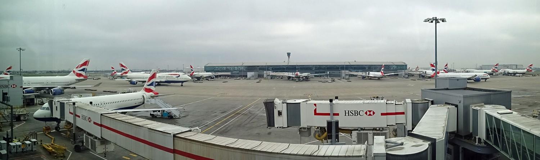 Viel los in Heathrow.