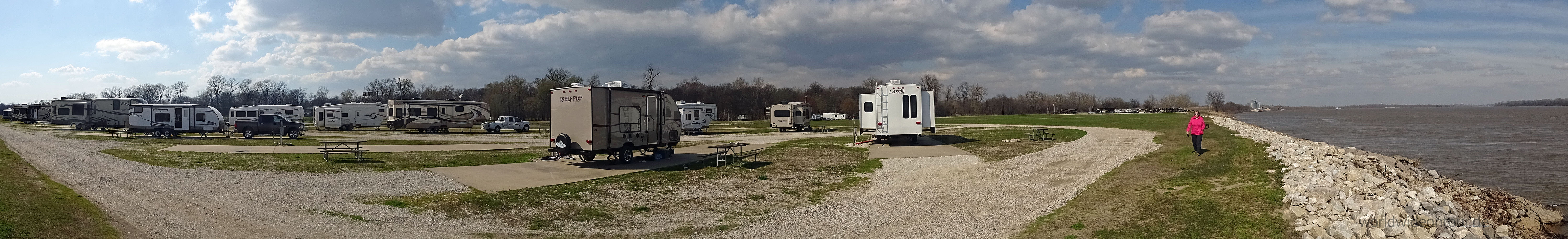 Pano entlang am Mississippi whesim