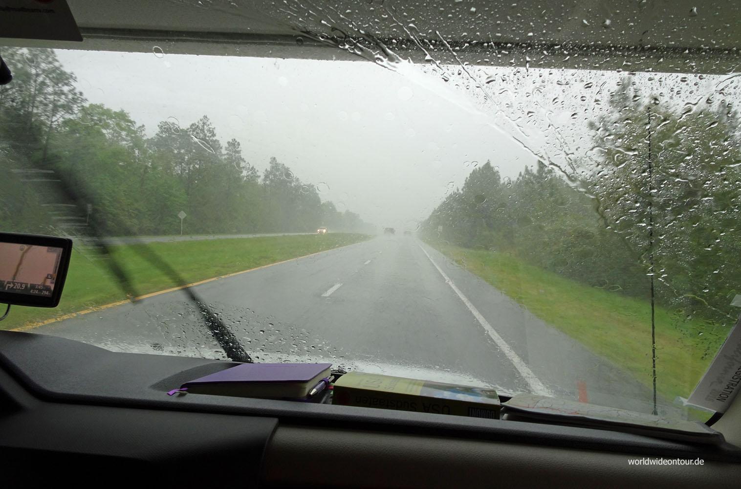 Auf nach Norden: Im Süden ist das Wetter schlecht.
