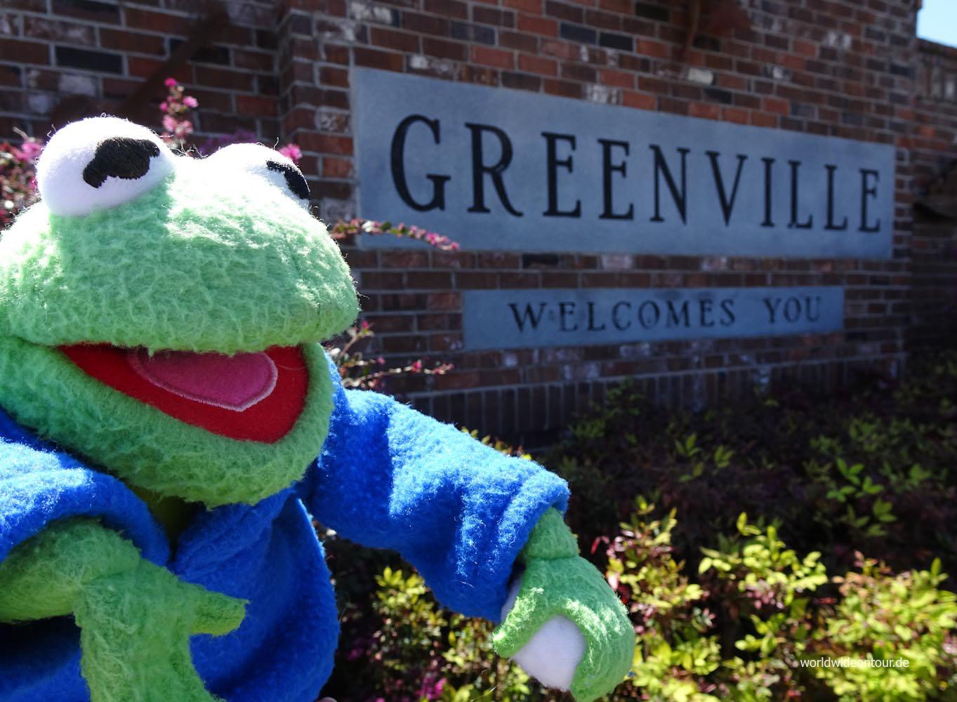 Greenville: Geburtsstadt von Jim Henson, dem Erfinder der Muppets.