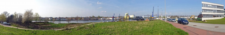 Filet-Stück mit bester Kanalsicht. Dort entsteht der neue Wohnmobilstellplatz am Kanal-Café.