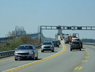 Die Rampe zu den Chesapeake Bay Bridges. Fotos: Sabine Sopha