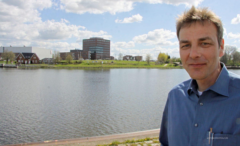 Regionalmanager Marco Neumann von der Eider- und Kanalregion Rendsburg koordiniert gemeinsam mit dem NOK-Tourismus die neuen Wohnmobilstellplätze.
