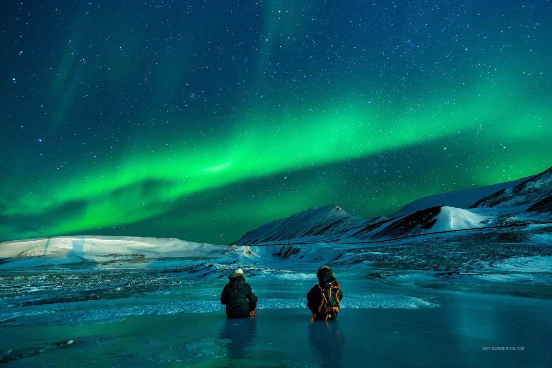 Aurora Borealis über Alaska.