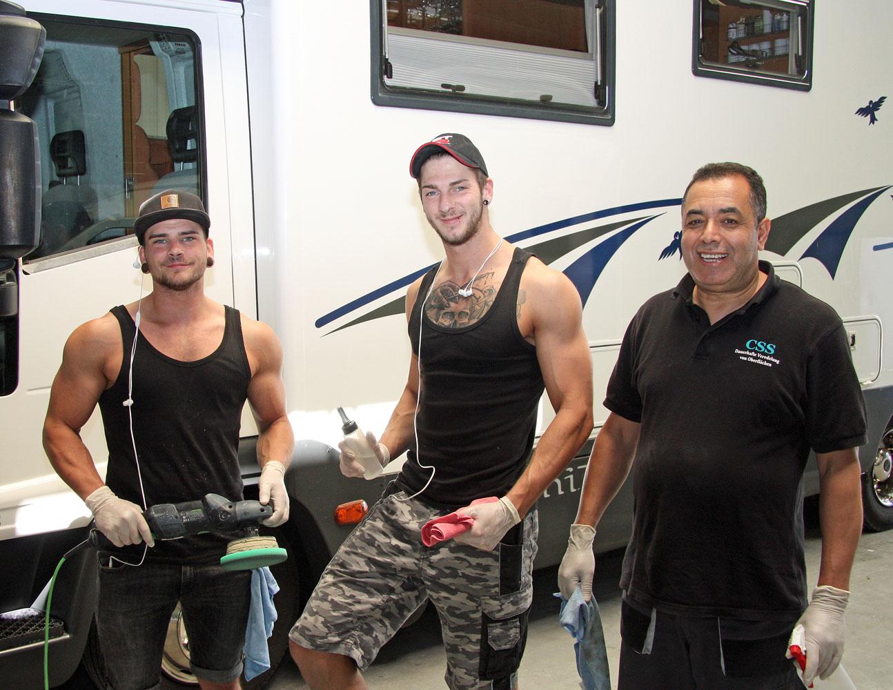 Ein tolles Team (von links): Denny, Jens und Mohammed.