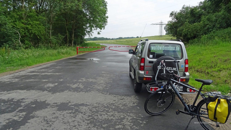 Redakteur Wolfgang Henze stattete dem neuen Hafen per Fahrrad einen Besuch ab.