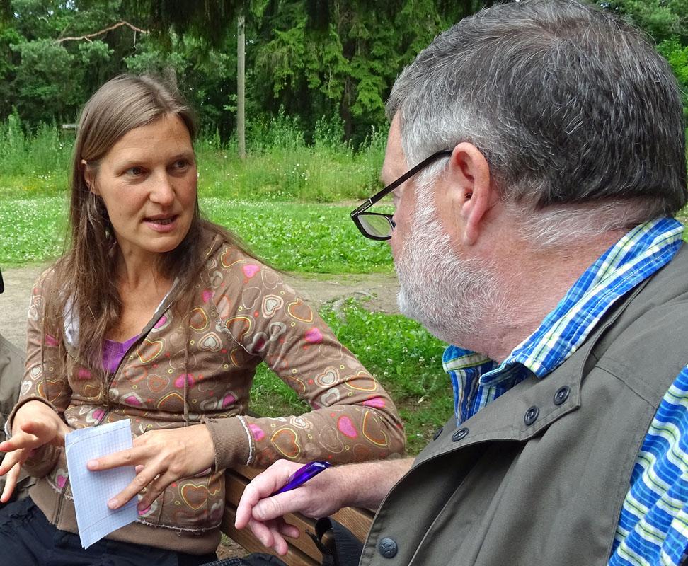 Begegnung: Kadri Kesküla ist die Referentin für diakonische Projekte in Estland.