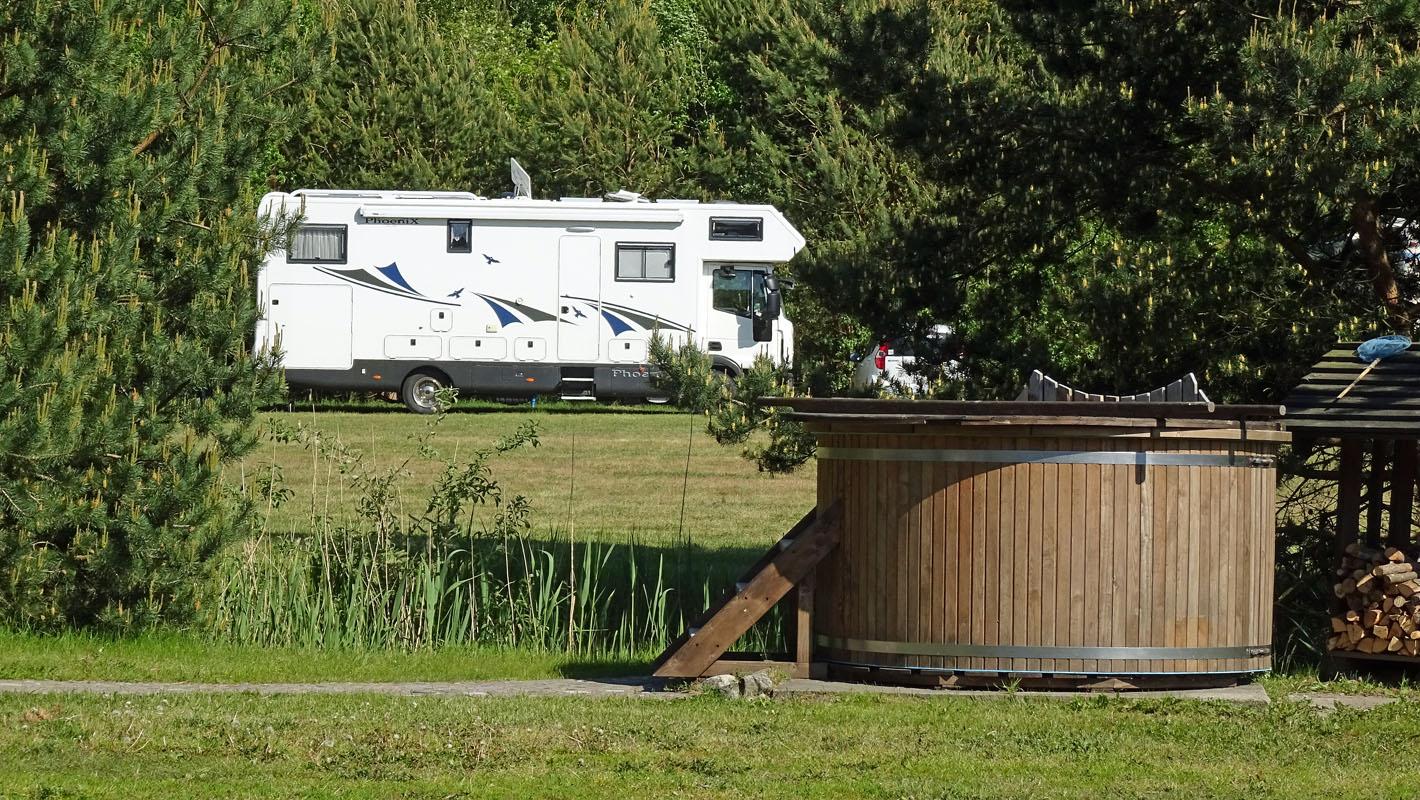 Großzügiger Campingplatz Verbelnieki.
