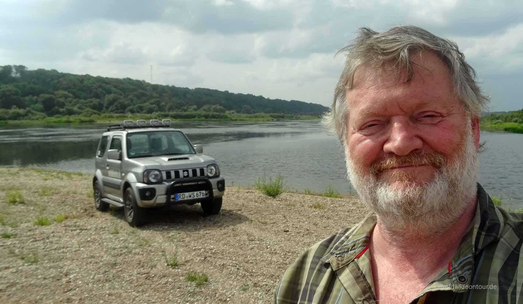 An der Memel unterwegs: Wolfgang Henze